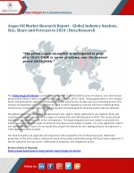 Global Argan Oil Market is Anticipated to Witness a 19.6% CAGR Till 2024 - Hexa Research