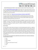 Industrial Washing Equipment Market - Industry Analysis, Size, Share, Growth, Trends and Forecast, 2022