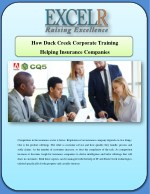 How Duck Creek Corporate Training Helping Insurance Companies