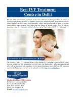 Best IVF Treatment Centre in Delhi