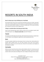 Resorts in South India