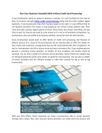 Run Your Business Smoothly With Online Credit Card Processing