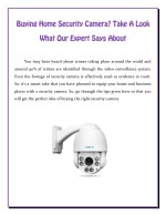 Buying Home Security Camera? Take A Look What Our Expert Says About