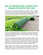 The artificial grass company