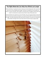 The Right Materials Can Help Your Blinds Last Longer – The Luxury Blind Company