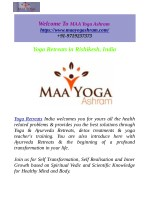 Yoga & Ayurveda Retreats In Rishikesh, India