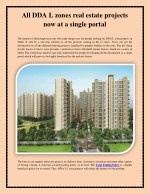 All DDA L zones real estate projects now at a single portal