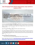 Glass Packaging Product Market Segmentation, Scope and Driver Analysis to 2021