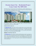 Dwarka Smart City – Residential Project Comes Under The MPD 2021