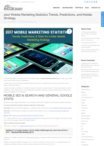 Mobile Marketing statistics 2017