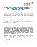 Breast Pumps Market Research Report Forecast to 2022