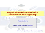 Empirical Models to deal with Unobserved Heterogeneity