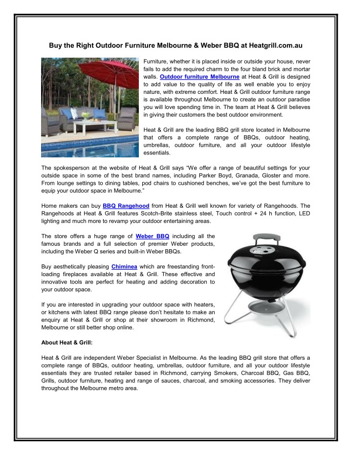 buy the right outdoor furniture melbourne weber n.