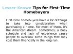 Six Little-Known Tips for First-Time Homebuyers