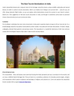 The Best Tourist Destinations In India