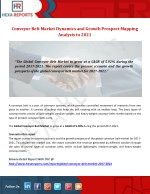 Conveyor Belt Market Provide Reports Review, Product Analysis and Forecasts To 2021