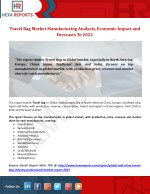 Travel Bag Market Development Trends, Economic Impacts and Market Forecasts to 2022