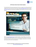 IELTS Hacks: Review Tips for Online Students