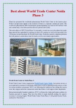 Best about World Trade Center Noida Phase 3
