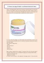 Is Natural Anti-aging Wrinkle Cream Really Beneficial for Skin?