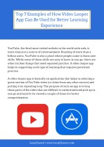 Top 7 Examples of How Video Looper App Can Be Used for Better Learning Experience