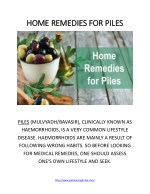 PDF on Home Remedies for Piles