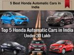 List of Honda Automatic Cars in India