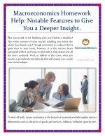 Macroeconomics Homework Help: Notable Features to Give You a Deeper Insight