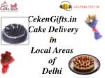 Online Cake Delivery in Delhi's Local areas