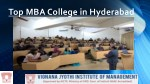Top MBA College in Hyderabad coaching oneself to gain Success in life