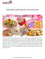 5 Best Return Gifts Ideas for Your Lovely Sister