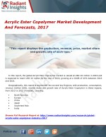 Acrylic Ester Copolymer Market Development And Forecasts, 2017