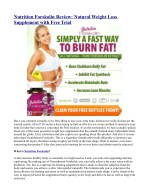 Nutrition Forskolin Review: Natural Weight Loss Supplement with Free Trial