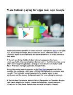 More Indians paying for apps now, says Google