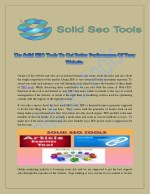 Use Solid SEO Tools To Get Better Performance Of Your Website