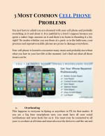 3 Common cell Phones Problems