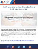 Seed Treatment Market Competitive Landscape with Industry Driver & Growth Rate to 2020