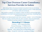 Top Class Overseas Career Consultancy Services Provider in Indore