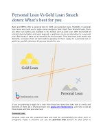 Personal Loan Vs Gold Loan Smack down: What's best for you