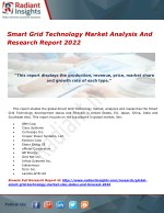 Smart Grid Technology Market Analysis And Research Report 2022