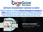 Outstanding Software Development Company in Jaipur | Bytegrow Technologies