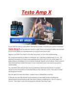 Testo Amp X - It will help you to develop the strong and bulky muscles