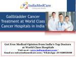 Gallbladder Cancer Treatment in India