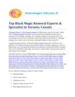 Top Black Magic Removal Experts & Specialist in Toronto