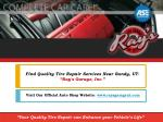 Find Your Quality Tire Repair Services Near Sandy, UT- Ray's Garage, Inc.
