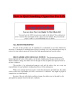 How to Quit Smoking Cigarettes For Life PDF