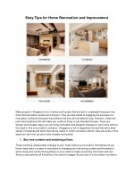 Easy Tips for Home Renovation and Improvement