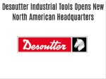 Desoutter Industrial Tools Opens New North American Headquarters