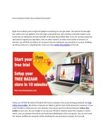 How to build an Online Store without Any Hassle?