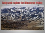 Camp and explore the Himalayan region